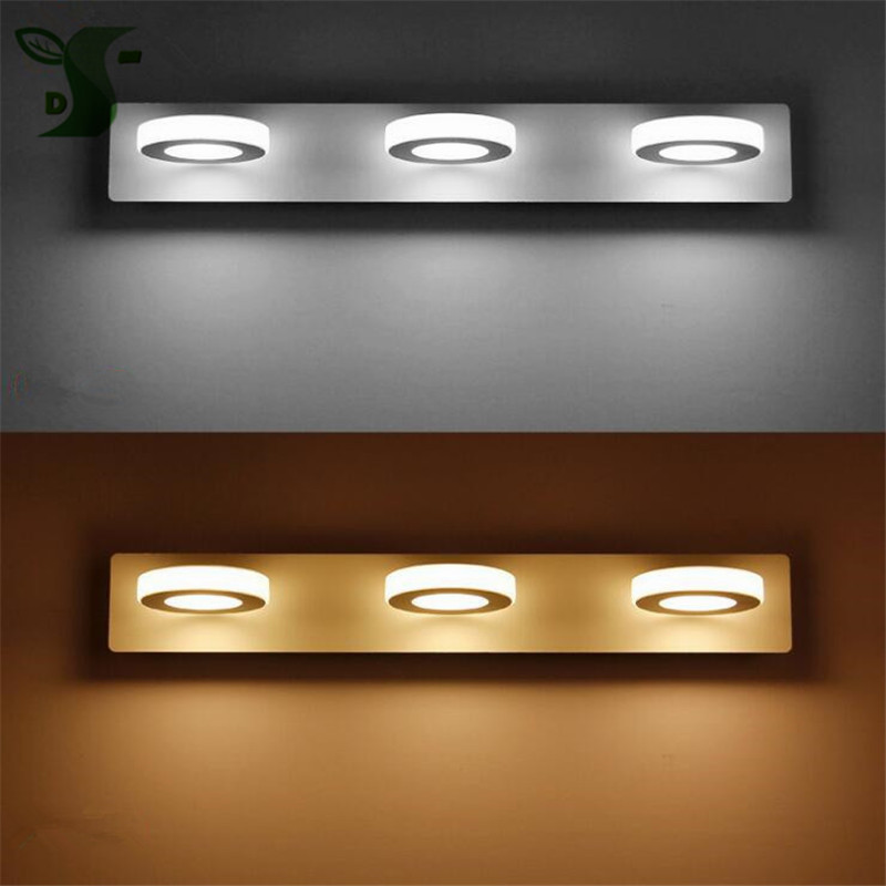 Led Lamps Led Indoor Wall Lamps Nice 2017 New 3w/6w/9w/12w 14-65cm Long Led Mirror Light White/warm White Acrylic Bathroom Makeup Lamp Round Wall Light