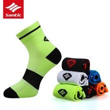 Santic мужские носки спортивные для езды на велосипеде бега