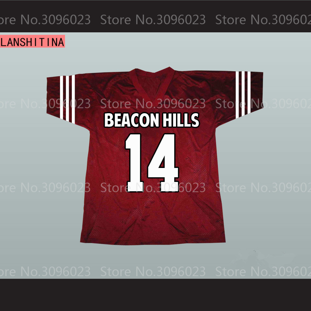 Isaac Lahey 14 Beacon Hills Cyclones Maroon Lacrosse Jersey Teen Wolf American Football Jersey