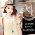 2016 de Moda de Verano Sombreros de Playa de Las Mujeres Para Las Mujeres Sombreros para el Sol Para Las Niñas Damas Paja Sombrero Panamá Kentucky Verano Navegante