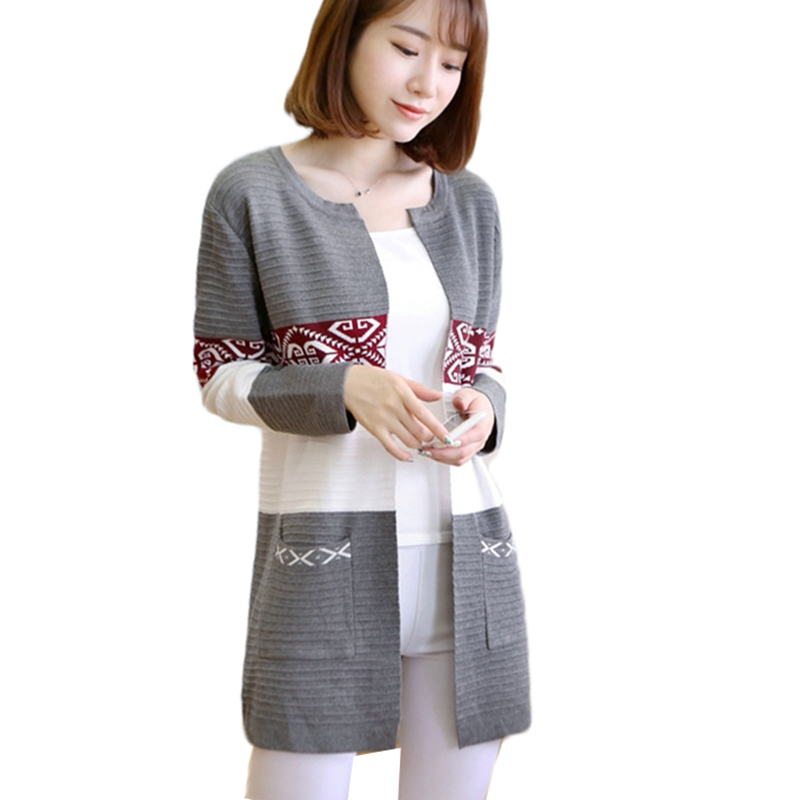 Women Knit Sweater Cardigan Coat 2018 New Autumn Fashion Stripe Knit Tops Female clothes Slim Large Size Women Coat Jacket A228 ...