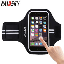 HAISSKY 5.2 Universal Sports Armband สำหรับ iPhone X XS 6 s 7 8 Touchble หน้าจอ Arm Band สำหรับ Samsung Xiaomi Huawei(China)