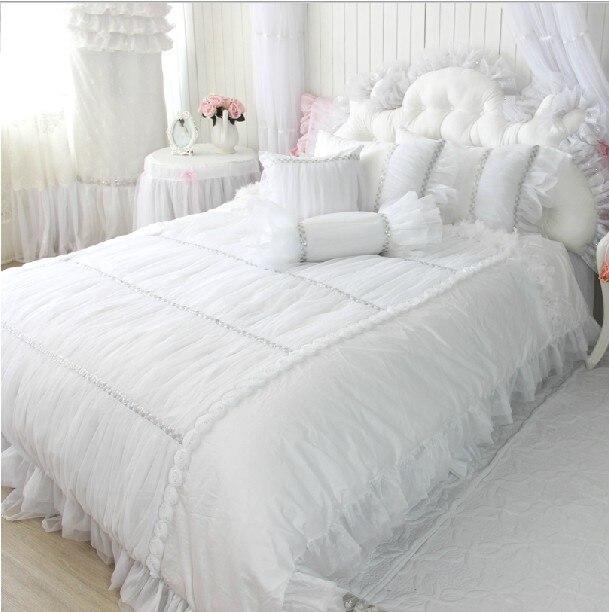 White Wedding Dress 100 Piece Cotton Bedding Set Duvet
