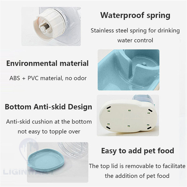 Automatic Pet Feeder - Water Dispenser For Cats & Dogs 5