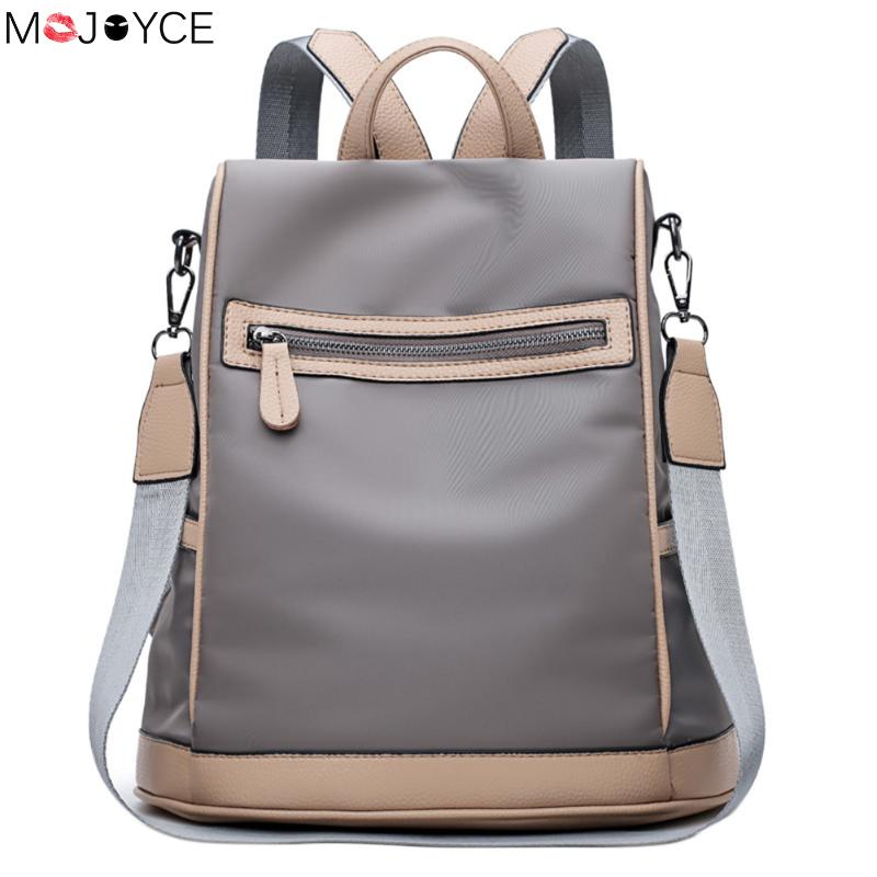 MOJOYCE High Quality Waterproof Nylon Backpacks Women Backpack School Shoulder Bag for Teenage Girls bolsas feminina 10pcs bronze tone round head flower pattern clutch arc metal frame kiss clasps lock purse bag handbag handle 86x52mm