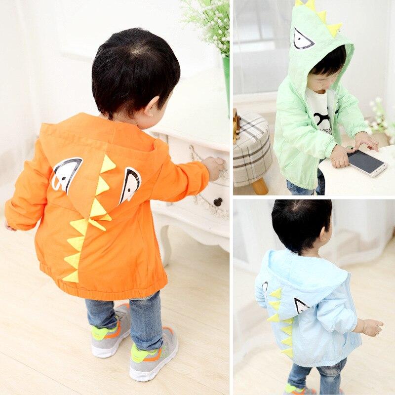 2017 new spring children coat cute little jacket boys and girls treasure dinosaur Korean cartoon sun