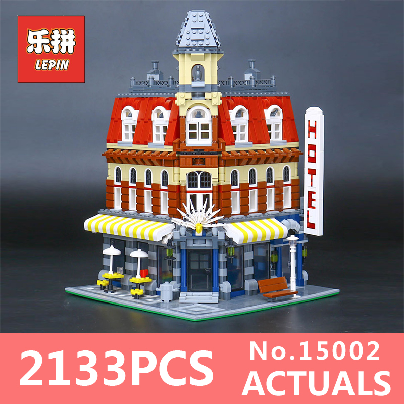 2133Pcs Lepin 15002 Building Blocks Bricks Kits Kid Cafe Corner DIY Educational Toy Children Holiday Gift 10182 new lepin 15002 2133pcs cafe corner model building kits blocks kid diy educational toy children day gift brinquedos 10182