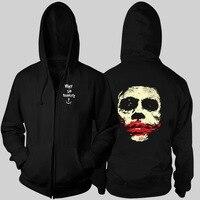 Batman Palhaço Heath Ledger coringa Cavaleiro Das Trevas Ascensão X-Men zipper moletom com capuz outono e inverno mais grosso hoodies jaqueta