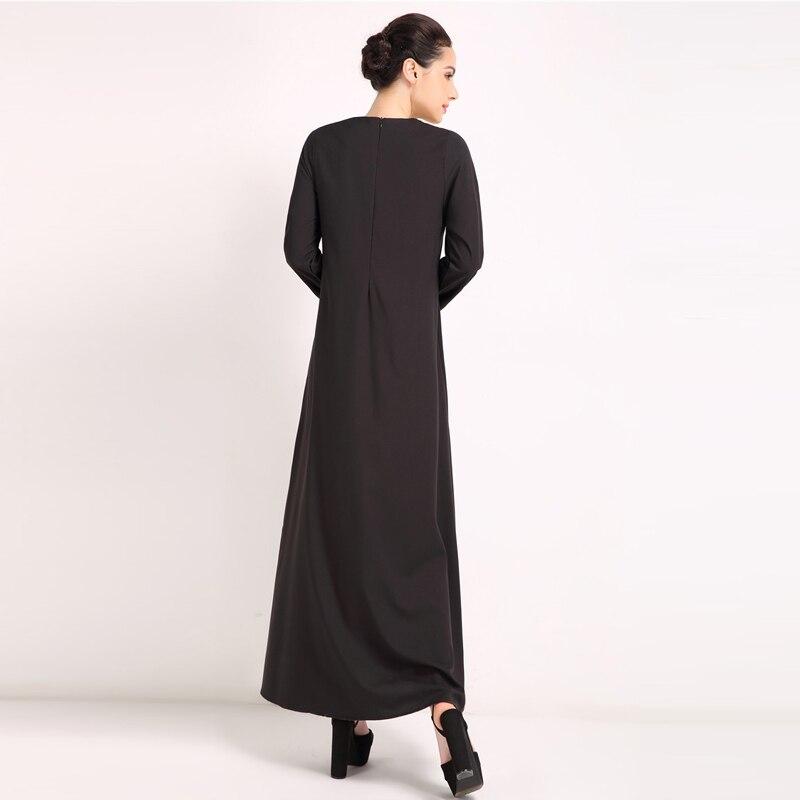 2b7847a06c5455 PADEGAO zwarte lange maxi jurk o hals lange mouwen turkse gewaad abaya  moslim jurk empire turkse islamitische kleding lange jurken in PADEGAO  zwarte lange ...