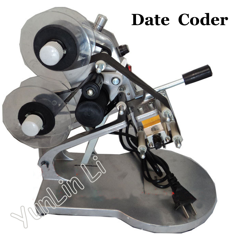 DY-8 Date Ribbon Coder Color Ribbon Hot Printing Machine Direct Thermal Foil Manual Stamp Printer Coding Machine manual hand operated hot stamp printer coding machine date ribbon coder 110v 220v