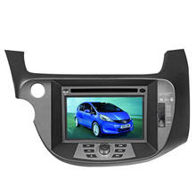 Free Shipping Car DVD Player GPS navigation For Honda Fit Jazz 2009 2010 2011 2012 2013 Steering wheel control RDS Ipod TV Radio