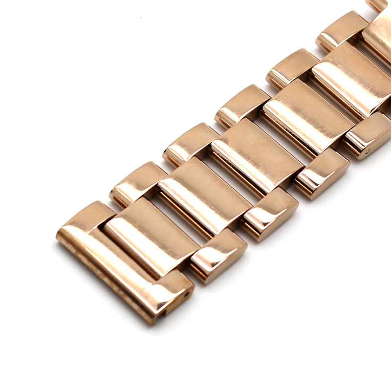 Luxury Strap 18mm 20mm 22mm Rose Gold Watchband Solid Stainless Steel Metal Bracelets for Watches Wristwatch Replacement Clock new 16mm 20mm silver gold metal stainless steel watchband bands strap bracelets for brands watches men high quality accessories