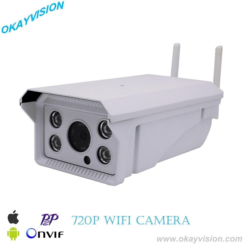 WIFI 1280x720P 1.0MP IP Camera Waterproof 4PCS IR led array Night Vision Outdoor Security Camera ONVIF P2P CCTV Cam with IR-Cut
