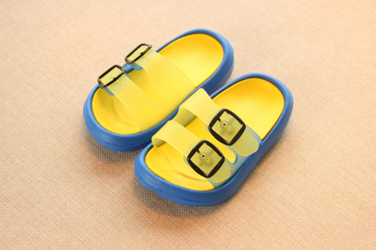 Slippers Kids for Girls Beach Sandals Summer Baby Slippers Boys Flat House Flip Flop Children Non-slip Korea Home Casual Shoes 3