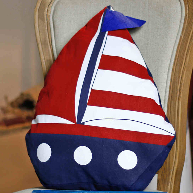 Little Sailing Ship Cotton Pillow 3