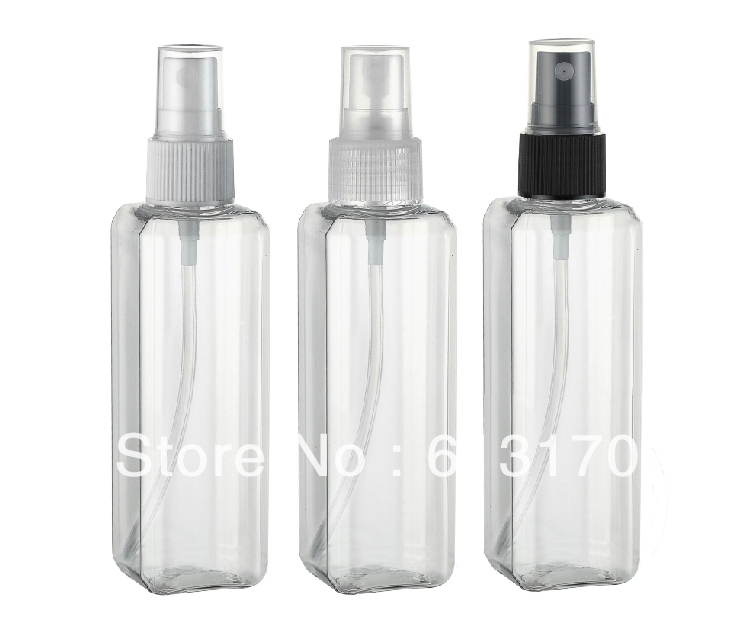 100ml plastic empty spray bottle transparent clear square. Black Bedroom Furniture Sets. Home Design Ideas