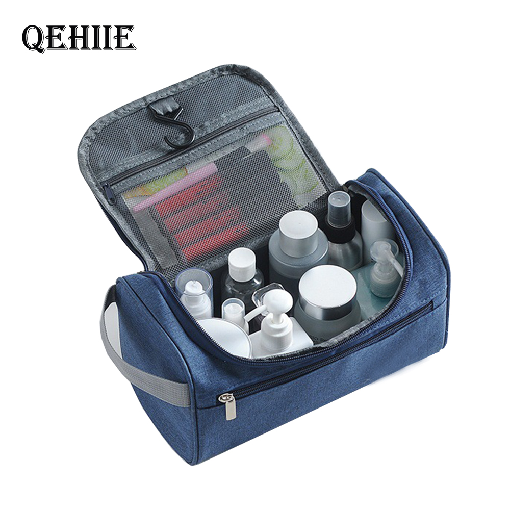 Fashion Travel Cosmetic Bag Functional Hanging Zipper Makeup Case Necessaries Organizer Storage Pouch Toiletry Make Up Wash Bags