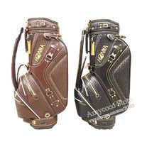 Neue cooyute golftasche hohe qualität pu golf clubs tasche in wahl 9,5 zoll honma golf cart bag freies verschiffen