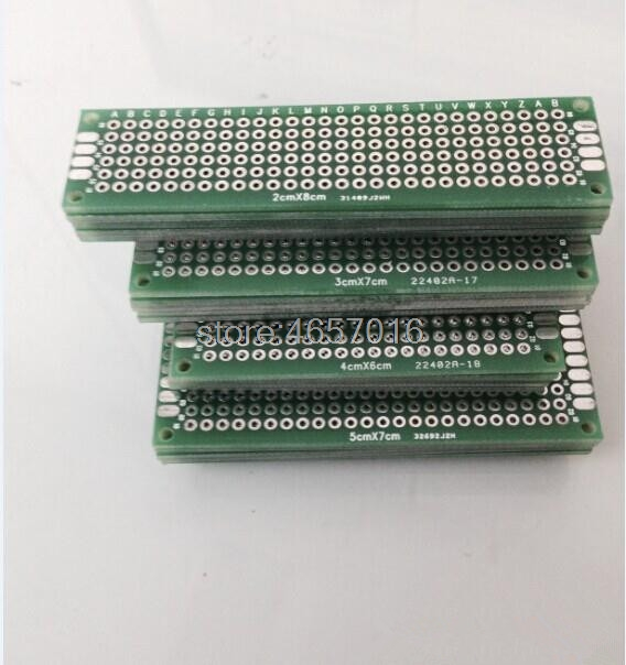 12pcs 5x7 4x6 3x7 2x8 Cm Double Side Copper Prototype Pcb  Free Shipping Free Shipping