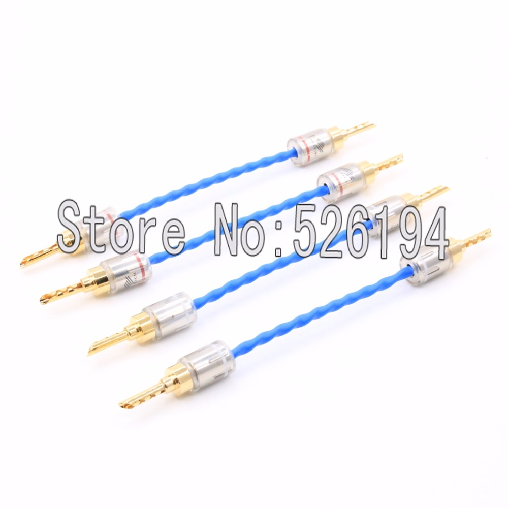 Free shipping Siltech G7 Emperor Double Crown Jump cable Bradge cable for speakers with spade connectors silver-gold free shipping 3meter pair siltech empress double crown rca interconnect audio cable hifi rca audio cable with box