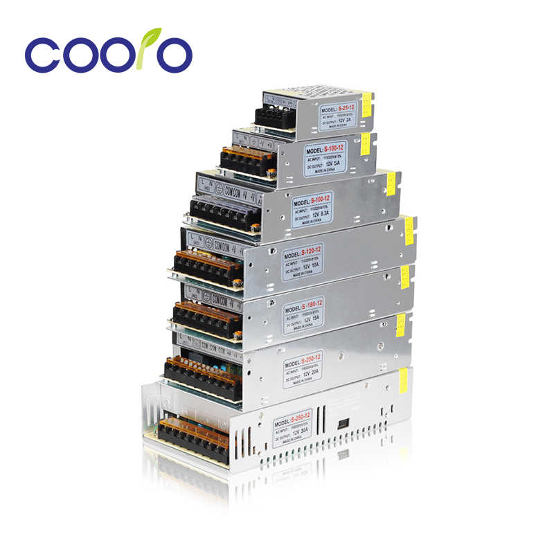 Светодиодный драйвер DC12V Высокое качество трансформаторы для Светодиодные ленты Питание 24 W 60 W 100 W 120 W 180 W 240 W 360 W