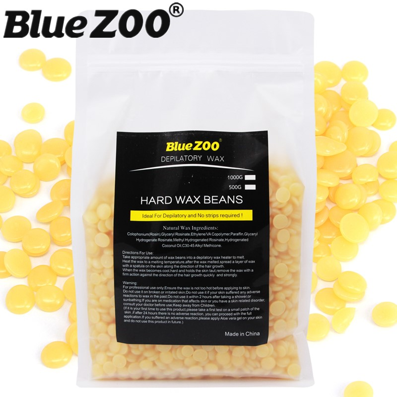 1 Bag 1000g Honey Flavor Brazilian Hard Wax Beans Pellet Painless Depilation Waxing Bikini Facial Hair Remover for Women temptations mixups surfers delight flavor treats for cats pouch mega bag