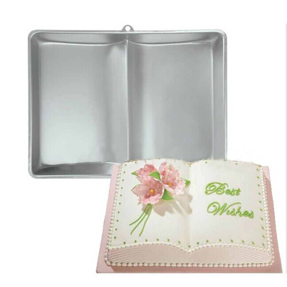 Aluminum Mold Best Selling Book Shaped Pan Tin Cup Cake Baking Bakeware Cake Moulds Metal Cake
