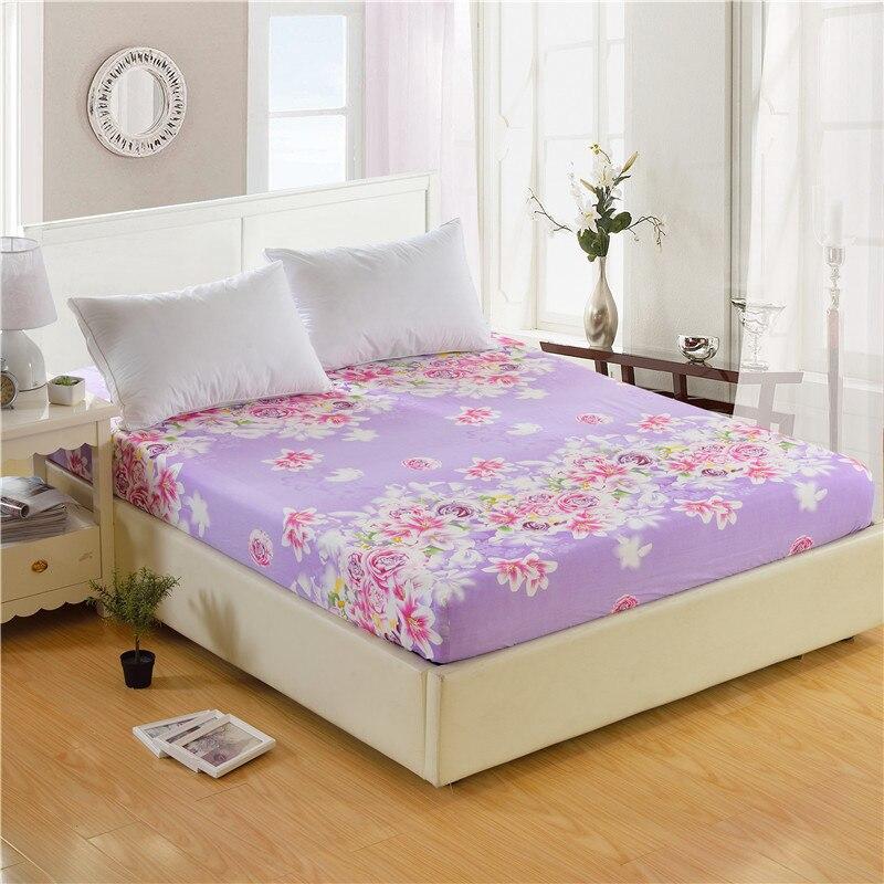 1pc 100% Polyester Uyğun Vərəqli Döşək örtüyü Çap Yatağı - Ev tekstil - Fotoqrafiya 6