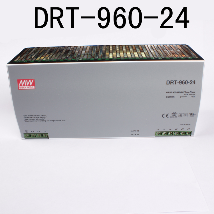 Din rail power supply 960W 24V power suply meanwell ac dc converter DRT-960-24 960W 40A 24V Industrial Original MEAN WELL meanwell 24v 60w ul certificated lpv series ip67 waterproof power supply 90 264v ac to 24v dc