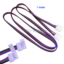Best Price 1 pcs meter LED RGB cable extension cord wire doble clip strip connector for 5050 Strip Light