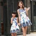 2016 семья соответствия мать дочь платья одежда мама и дочь платье дети родитель ребенок наряды бесплатная доставка