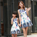2016 family matching mother daughter dresses clothes  mom and daughter dress kids parent child outfits free shipping