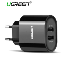 Ugreen 5V3.4A USB Charger Universal Portable Travel Wall Charger Adapter Samsung EU Plug Mobile Phone Charger for iPhone Laptop