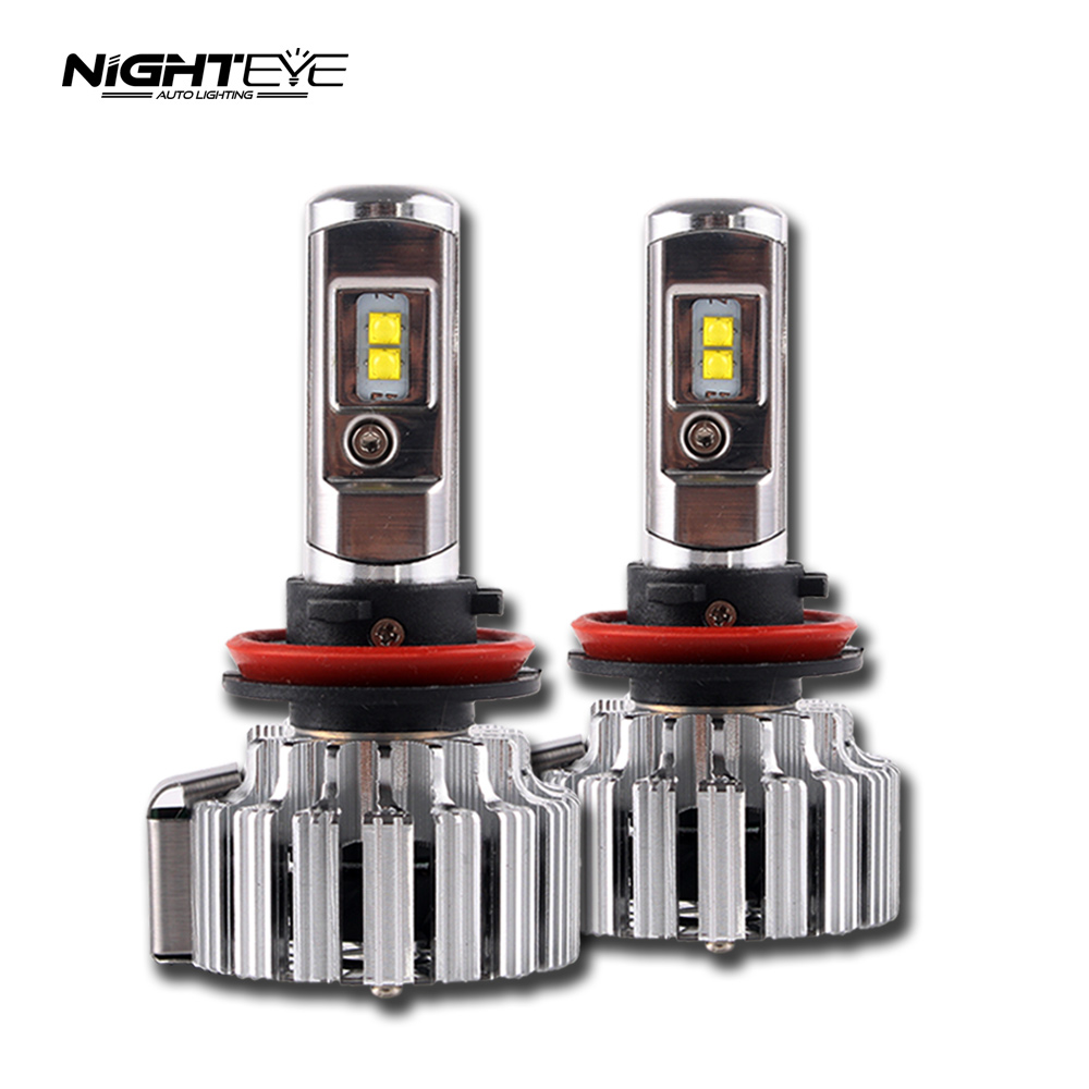 NIGHTEYE AUTO LIGHTING H11 70W 9000LM 6000K with CREE LED CHIPS Car Headlight Conversion Kit Fog Lamp Bulb DRL Super White дефлектор auto h k gt 36964