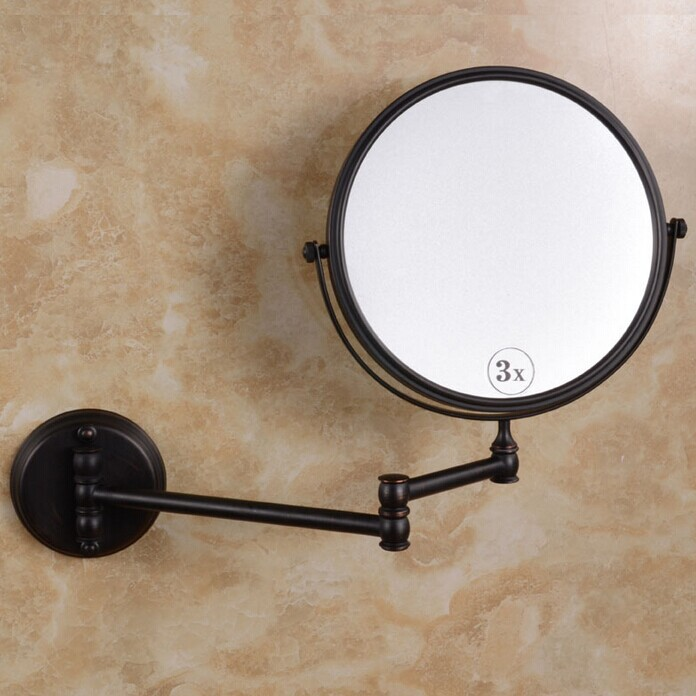Ordinaire Black Antique Brass Mirror Bathroom Wall Makeup Mirror 8inch Bathroom Mirror  Antique Decorative Makeup Mirrors In Bath Mirrors From Home Improvement On  ...