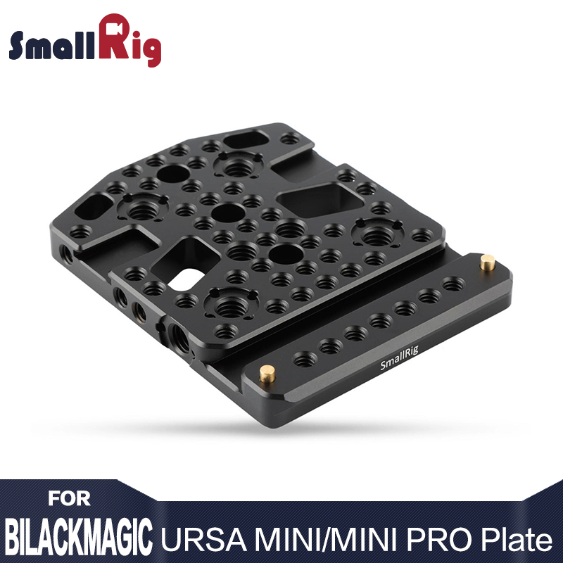 Placa superior de queso SmallRig para Blackmagic URSA Mini Camera Con dos soportes para zapatos y un riel Nato- 1853