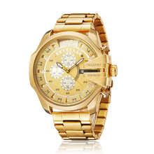 2.1 Cool Big Case Watch For Men Luxury Brand Cagarny Gold Stainless Steel Mens Quartz Watches Waterproof Relogio Masculino New