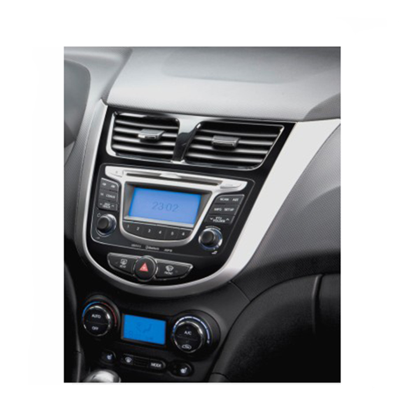 2DIN Cars and Installation DVD Frames DVD Panel Fascia Radio Frame Audio Frames Fit For HYUNDAI 2010 Verna I25 Emphasis Solaris