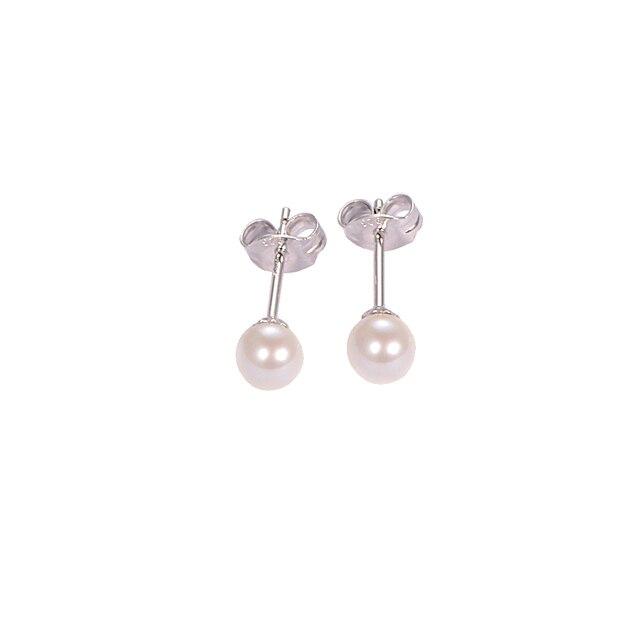 Я и цзуань 925 стерлингов серебряные ювелирные изделия серьги natrual Искусственный Пресной Воды Жемчужное стад серьги для женщин