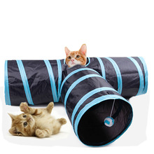 New Foldabe Pet Cat Tunnel Indoor Outdoor Cats Training Toys for Kitten Rabbit Animals Play Tubes 2/3 Holes Toy