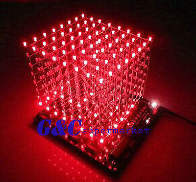 3D LightSquared DIY Kit 8x8x8 3mm LED Cube Red Ray LED3D LightSquared DIY Kit 8x8x8 3mm LED Cube Red Ray LED