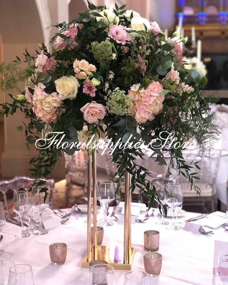 Modern Rectangular Tall Metal Stand Wedding Centerpiece Gold Flower Floor Vase Geometric Stand Metal Rectangle Road Lead Party Diy Decorations Aliexpress