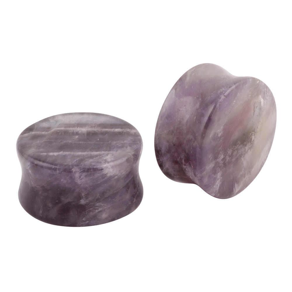 Tai Nghe Nhét Tai Giãn Nở Tai Có Dây 1 Opalite Đá Tai Đường Hầm Đồng Hồ Đo Giãn Nở Cơ Thể Trang Sức Khuyên