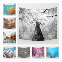 Flowers Colored Printed Decorative Tapestry 130cmx150cm Boho Wall Carpet Wall hanging Tapestry