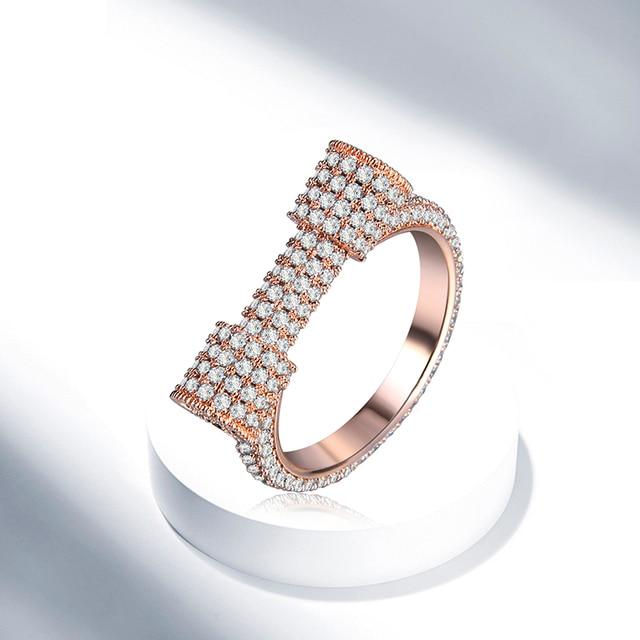 HHYDE Newest Gold Color Jewellery D Letter Rings Classic Unique
