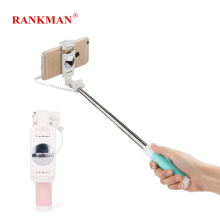 Rankman Selfie Stick Monopod Fold with Button 3.5mm Plug Wired Handle Extend Stick for iPhone 6 5 4 Android phones