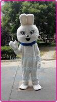 Талисман белый плюшевый кролик талисмана белый кролик пользовательские взрослый размер персонажа из мультфильма косплей комплекты mascotte к