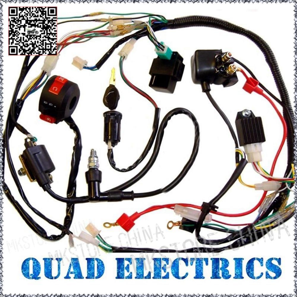 50cc atv wiring diagram avcr full electrics harness cdi ignition coil rectifier switch kill key 110cc 125cc quad bike buggy free shipping