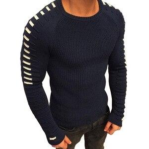 Image 4 - Мужской трикотажный свитер с круглым вырезом, с длинным рукавом