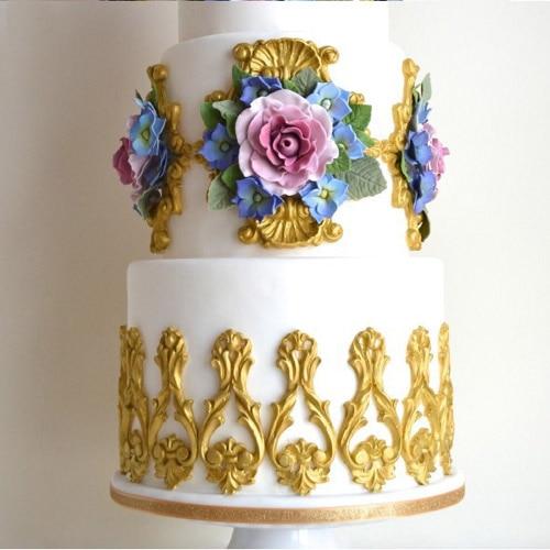 Chocolate Making Cake Decorating And Sugarcraft : Silicone Vintage Relief Flourish Cake Mold Sugarcraft ...
